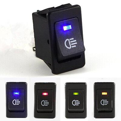 4-Pins LED On/Off Indicator Rocker Toggle Switch Driving Fog Lamp/Work Light  fb