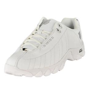 394ed7f7d K-Swiss St329 CMF 03426-129 M White Black Silver Mens US Size 11 UK ...