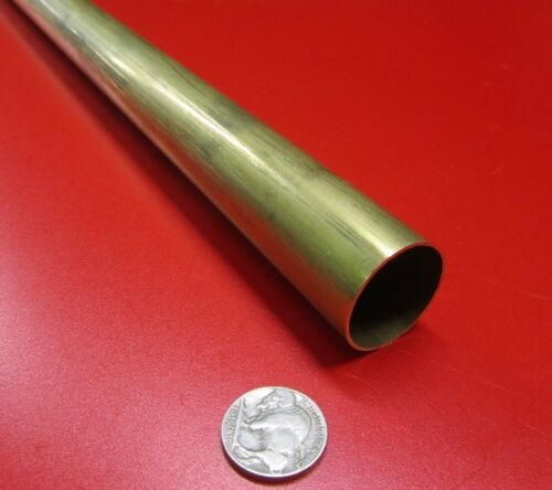 "260 Brass Tube 1 1//8/"" OD x .032/"" Wall x 1.061/"" ID x 3 Ft Length"