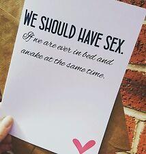 Boyfriend girlfriend wife husband birthday anniversary card adult humour funny