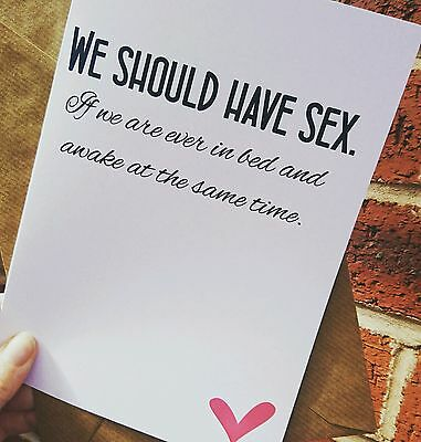 Boyfriend Girlfriend Wife Husband Birthday Anniversary Card Adult Humour Funny Ebay