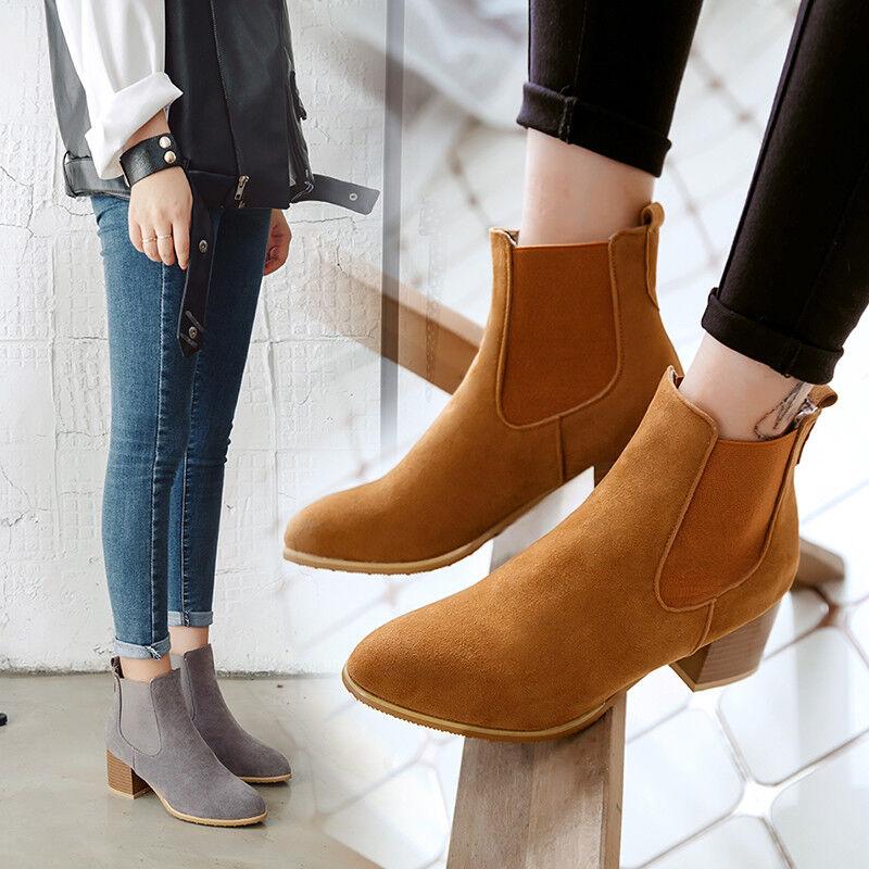 Mode Damen Schuhe Stiefeletten Gr Ankle Stiefel Gr Stiefeletten 32 43 Faux wildleder ... 262b7f