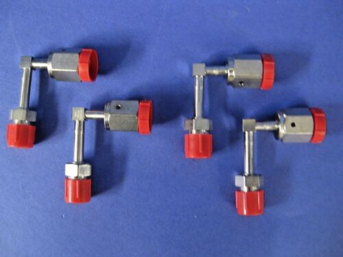 """Lot of 4 New WF 1//4/"""" MVCR x 1//4/"""" FVCR Stainless Steel Vacuum Elbow Fitting"""