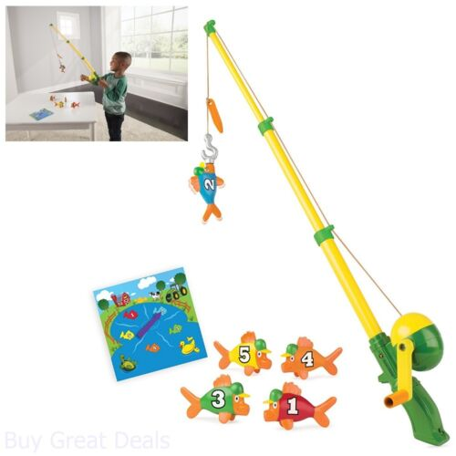 Fishing Rods for Kid Magnetic Fish Pole Reel Hook Playset Electronic Toy Toddler
