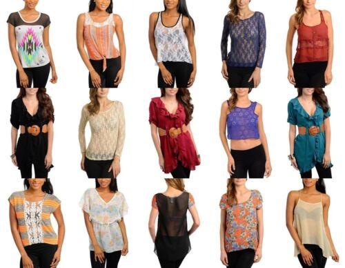 New Lot 20 pcs Women tops dresses Bottoms Mixed Juniors Apparel Wholesale S M L