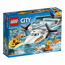 60164 LEGO City Coast Guard Sea Rescue Plane 141 Pieces Age 5-12 Years New 2017!