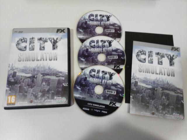 CITY SIMULATOR JUEGO PC 3 X DVD-ROM ESPAÑOL FX INTERACTIVE - AM
