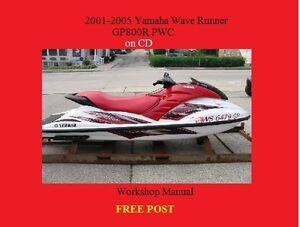 20012005 Yamaha WaveRunner GP800R service manual repair PWC on CD