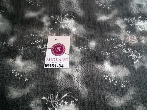 "Grey/'s two tonal printed chiffon fabric 44/"" wide M161-34 Mtex"