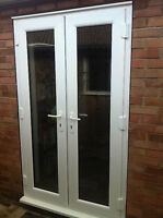 White 1200mm Upvc Patio Doors | Open Out
