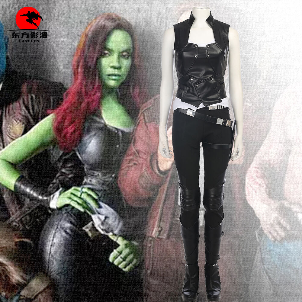 Guardians of the Galaxy Vol. 2 Cosplay Gamora Costume Full Set