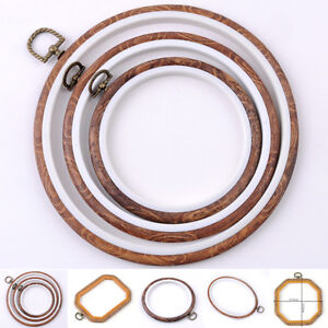 8-Size-Round-Cross-Stitch-Wood-Frame-Embroidery-Hoop-Ring-Loop-Sewing-DIY-Craft