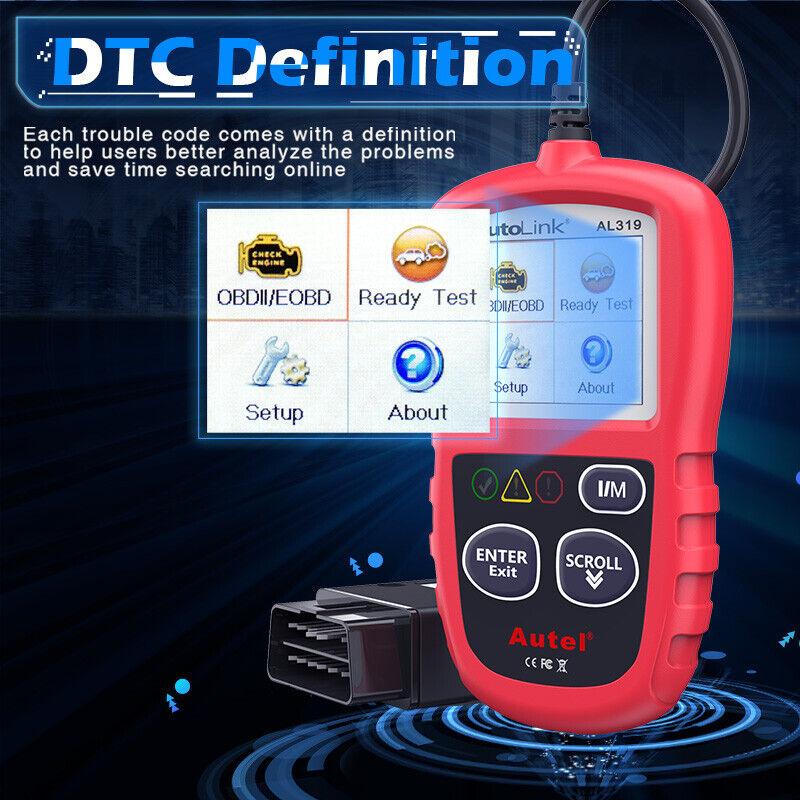 Autel Autolink AL319 OBD2 CAN OBDII Auto Car Code Reader Diagnostic Scanner Tool 5
