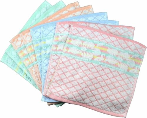 8 Stück Waschlappen Waschtuch Seiflappen Blume 25cm x 25cm 100/% Baumwolle YSN 10