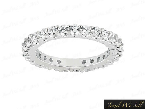 1.95Ct Round Diamond Shared Prong Set Wedding Eternity Band 14k White Gold GH I1