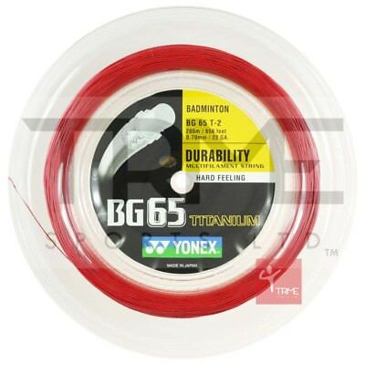 Yonex BG65Ti 0.70mm Badminton Strings 200M Reel