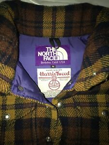 0fba42ed4 Details about TNF The North Face Purple Label x Harris Tweed Plaid Puffer  Vest