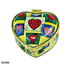 Iris by VAN GOGH KELVIN CHEN Enamel hand painted Copper Heart Box