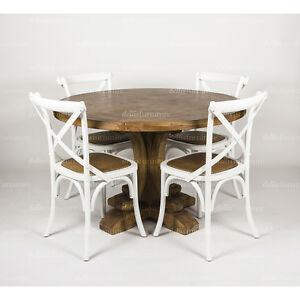 NEW-Cross-Back-Rattan-Seat-Timber-Dining-Chair-in-assorted-colours-French-Style
