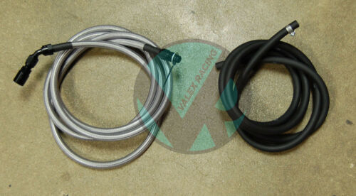 96-00 Civic 4dr Sedan Replacement Stainless Steel Fuel Feed Line /& Rubber Return