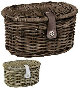 Fastrider Rattankorb Junior oval mit Deckel Weidenkorb Picknickkörbe Dekokorb