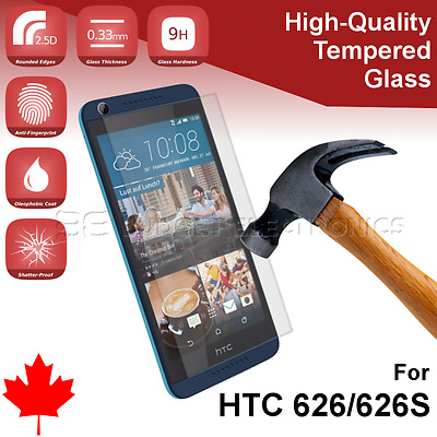 HTC 626/626S Premium Clear Tempered Glass Screen Protector from Canada