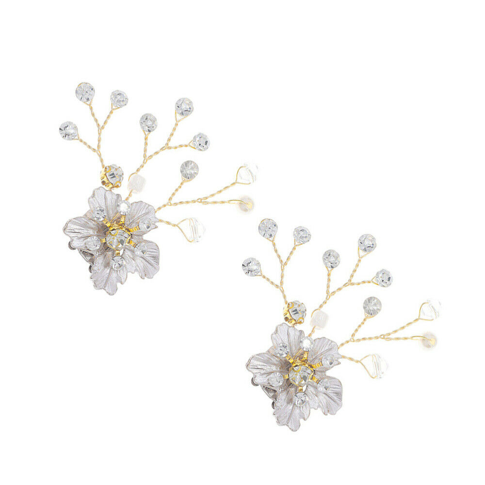1 Pair Buckles Decorative Fashion Rhinestone Shiny Shoe Jewelry Clip for Party