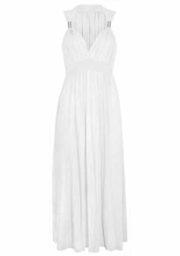 WOMEN/'S LONG EVENING MAXI DRESS LADIES STRETCH CASUAL HOLIDAY SUMMER COIL JERSEY