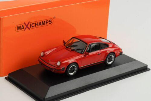 Porsche 911 SC carrera Coupe 1979 rojo 1:43 maxichamps//Minichamps