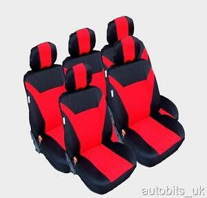 RED-5X-FABRIC-FULL-SET-SEAT-COVERS-FOR-5-SEATER-TOYOTA-VERSO-COROLLA-VERSO