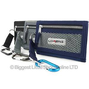 New-Mens-Boys-Sturdy-WALLET-Canvas-Belt-Clip-Credit-Debit-Card-TriFold-3-Colours