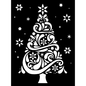 Large Christmas Stencils For Wood.Details About Christmas Tree Large Stencil Cakes T Shirts Pillows Wood Metal 11 1 2 X 8 1 2