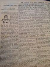 H8-1 Ephemera 1896 Short Story Shirley Reynard A Christmas Love Story