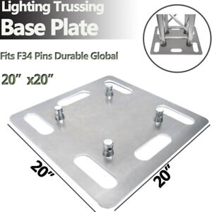 20-034-x20-034-Lighting-Stand-Square-Aluminum-Trussing-Base-Plate-Fits-Global-Truss-F34