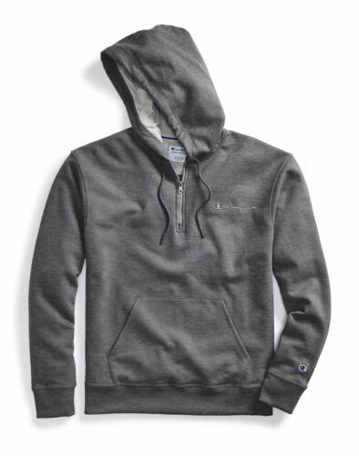 Hoodie Sweatshirt Champion Men/'s Powerblend Fleece Quarter Zip Embroidered Logo