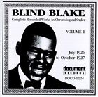 Complete Recorded Works, Vol. 1 (1926-1927) by Blind Blake (CD, Nov-1993, Document (USA))