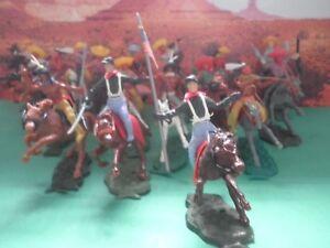 Lot soldats mexicains Cowboys indiens 7 ° C
