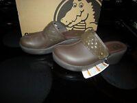 Brand Womens Brown Crocs Cobbler Quilt Strap Slide On Shoes, Size 6