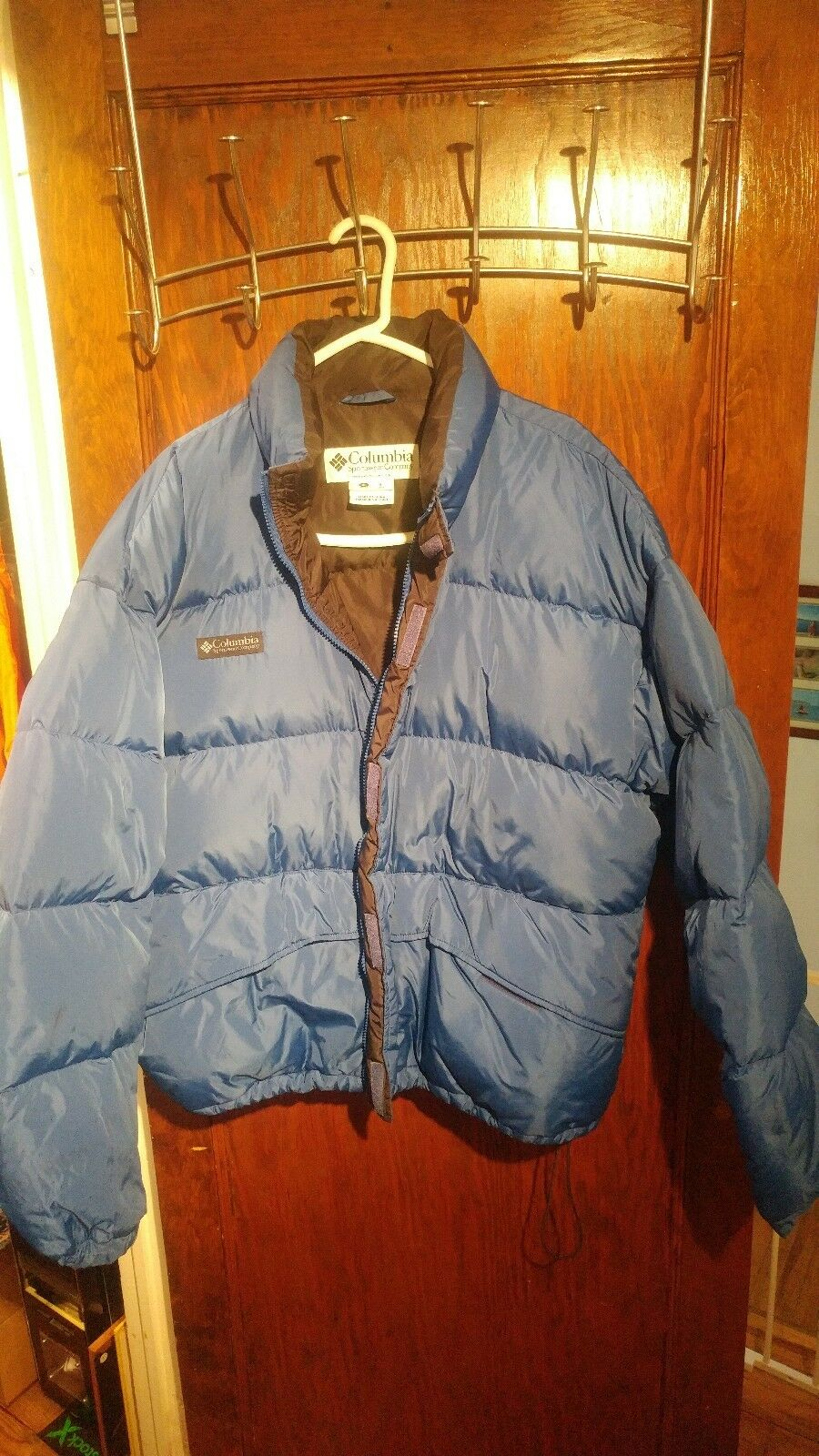 Vintage 90s Columbia 2 n 1 ski  Coat And Bubble electric Blau whirlibird Down XL
