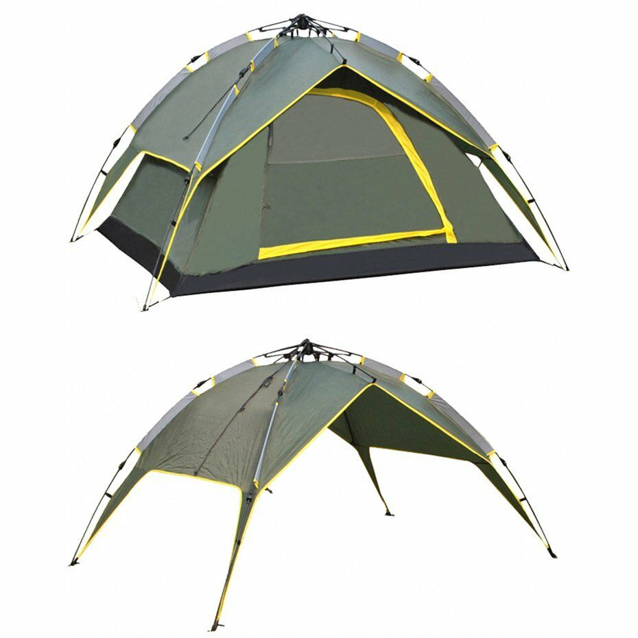 3-4 Person Outdoor Waterproof Fold Automatic Rope Pulling Pulling Pulling Tent Double Layers AD ea6731