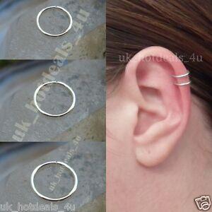 Fake Cartilage Ring Cuff Nose Hoop Ring Stud 6mm 8mm Fake Piercing