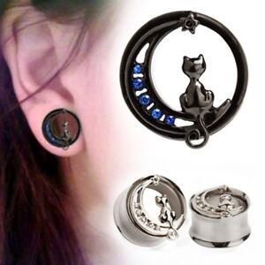 1-each-Stainless-Steel-CAT-Ear-Plug-Tunnel-Body-Jewelry-8-10mm-Screw-on-back