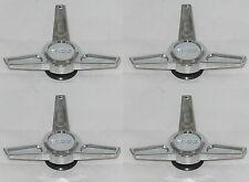 (4) BOSS MOTORSPORTS WHEEL RIM SPINNER TRIBAR CHROME KNOCKOFF 3216 CENTER CAPS