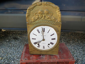 ANTIQUE-MOVEMENT-PENDULUM-CLOCK-COMTOISE-CLOCK-OLD-CLOCK-OROLOGIO-FRENCH-ANTIQUE