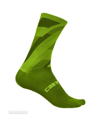 Castelli GEO 15 cm Tall Cuff Cycling Socks PRO GREEN One Pair