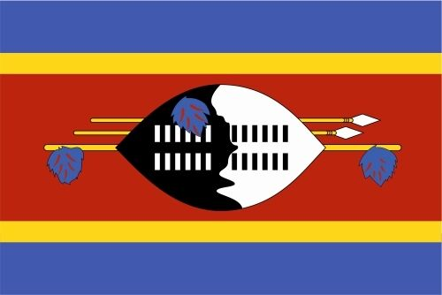 Swasiland lfd0181 Autoaufkleber Sticker Fahne Flagge Land