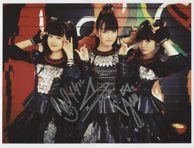 2 Signed Photo 1st Generation Print Ltd 150 Certificate Band Babymetal Baby Metal
