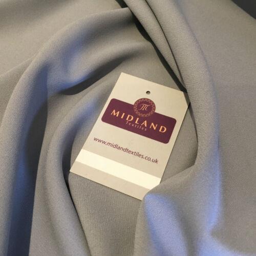 "Plain Poly Moss Crepe Georgette dress fabric medium weight 44/"" Wide M440 Mtex"