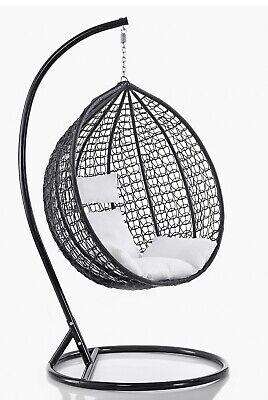 Sedia a dondolo sospesa per interno e esterno con cuscino modello mia ebay - Cuscino per sedia a dondolo ...