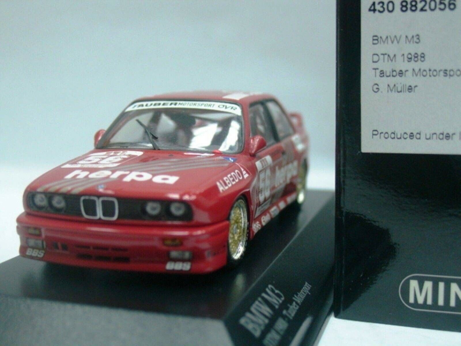 WOW EXTREMELY RARE BMW M3 E30 DTM 1988  56 Müller Zolder 1 43 Minichamps-635 E21